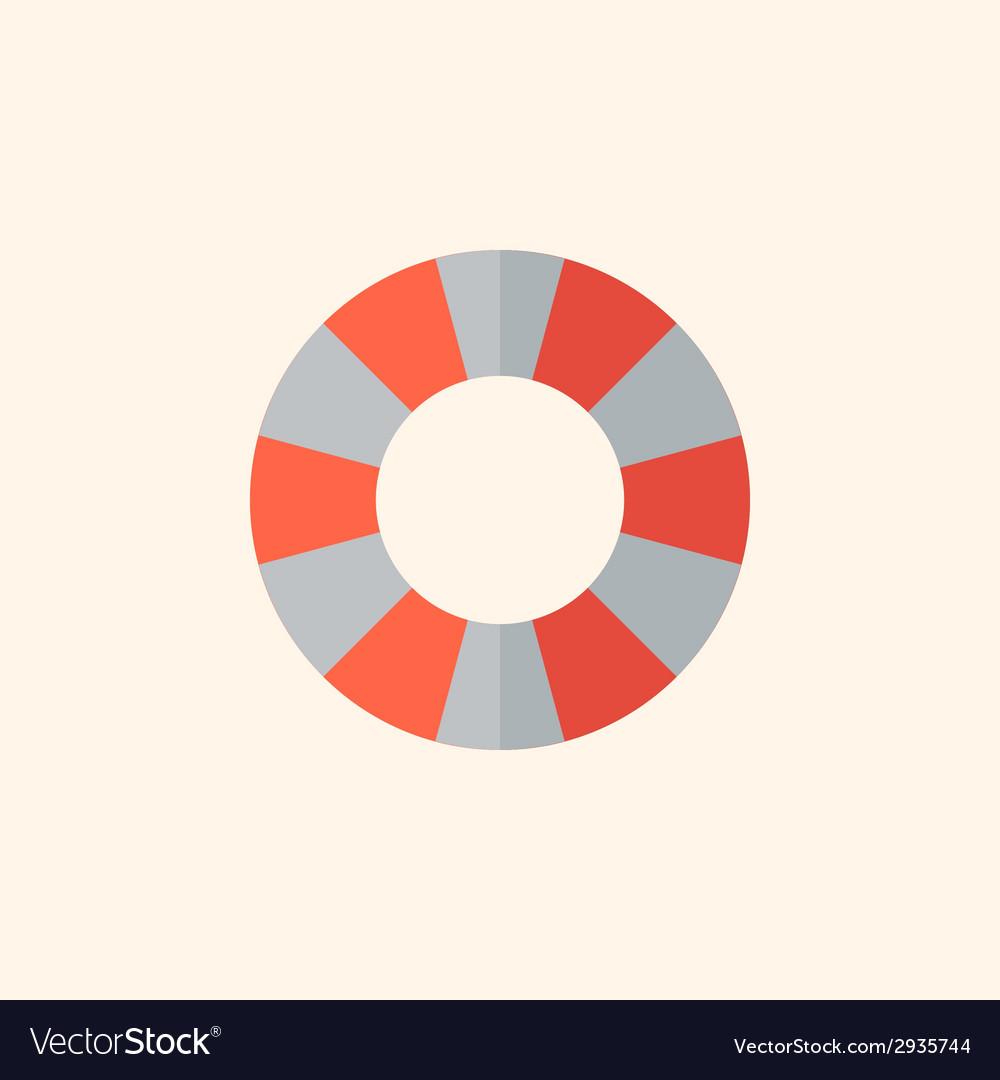 Lifebuoy travel flat icon vector | Price: 1 Credit (USD $1)