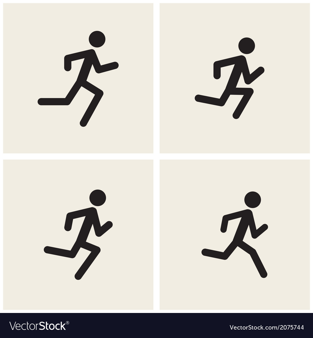 Running men vector | Price: 1 Credit (USD $1)