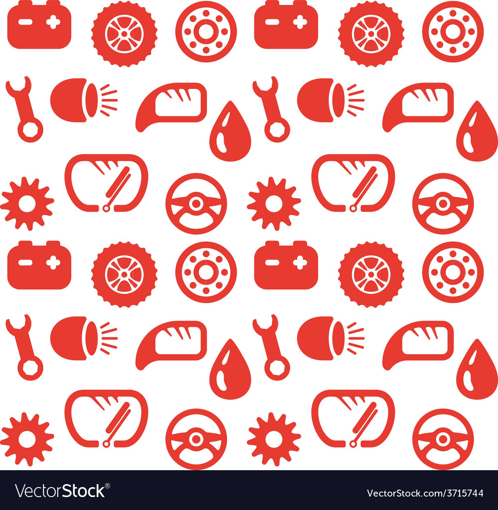 Seamless background spare parts vector | Price: 1 Credit (USD $1)