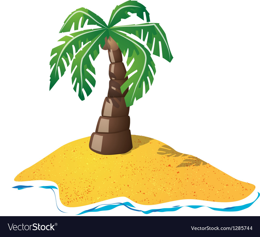 Small island vector | Price: 1 Credit (USD $1)