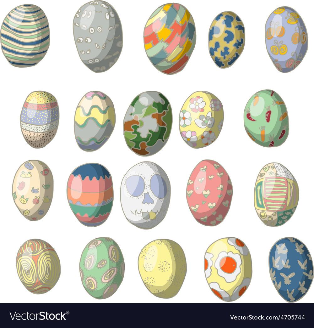 Vintage easter egg design set vector | Price: 1 Credit (USD $1)