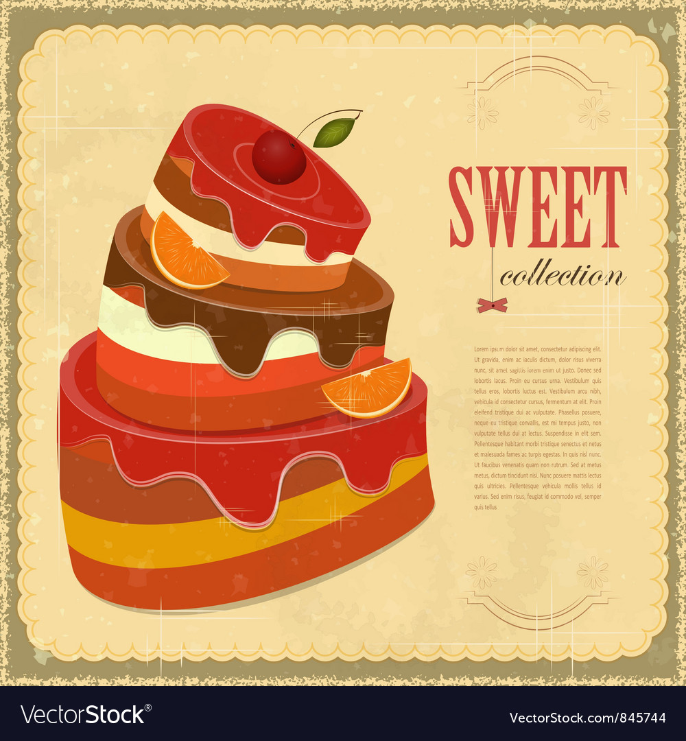 Vintage pastry menu vector | Price: 1 Credit (USD $1)