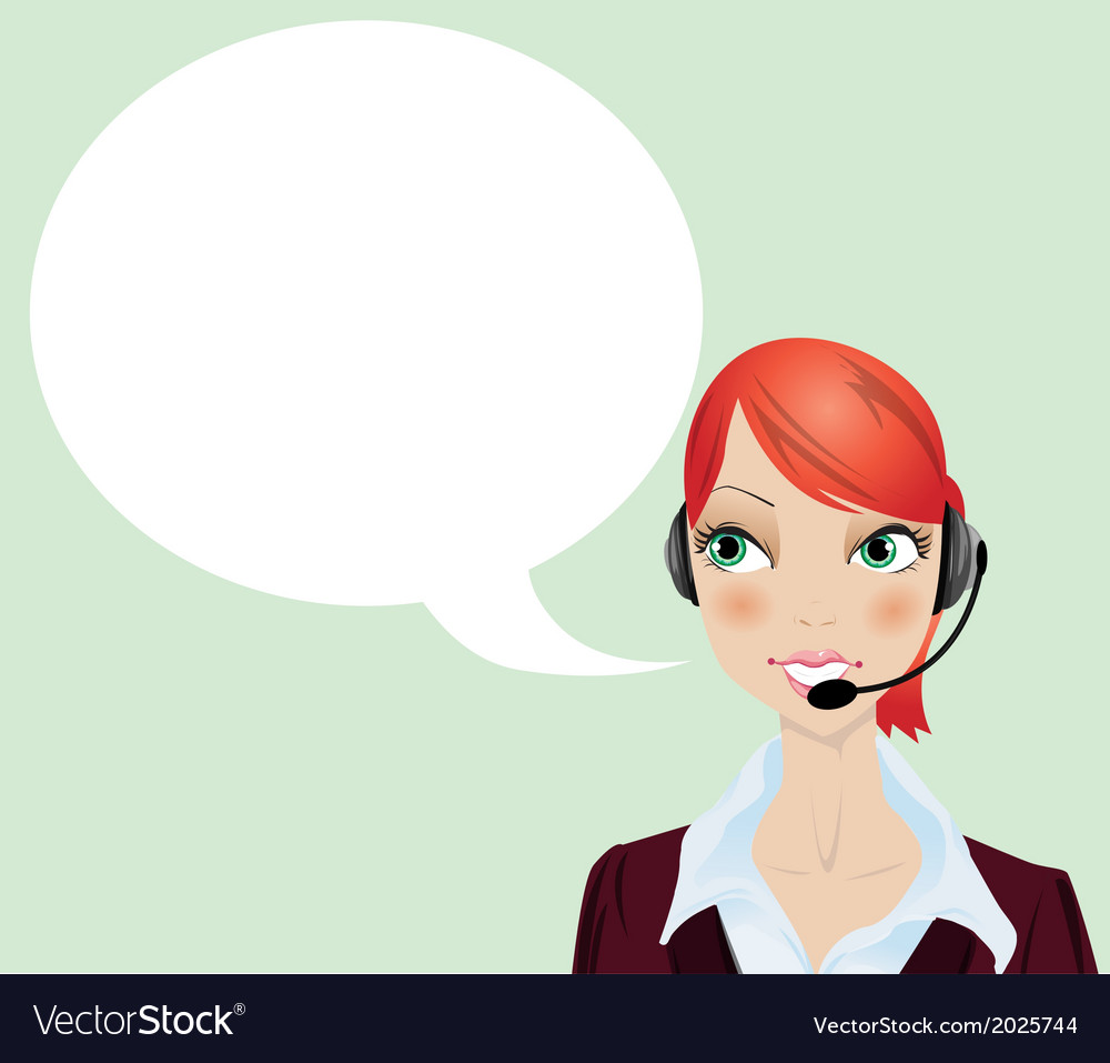 Woman talking on the phone vector | Price: 1 Credit (USD $1)