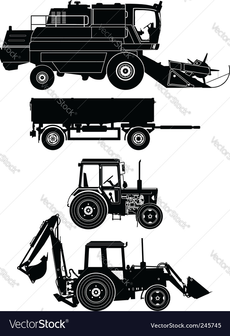 Agricultural vehicles vector | Price: 1 Credit (USD $1)