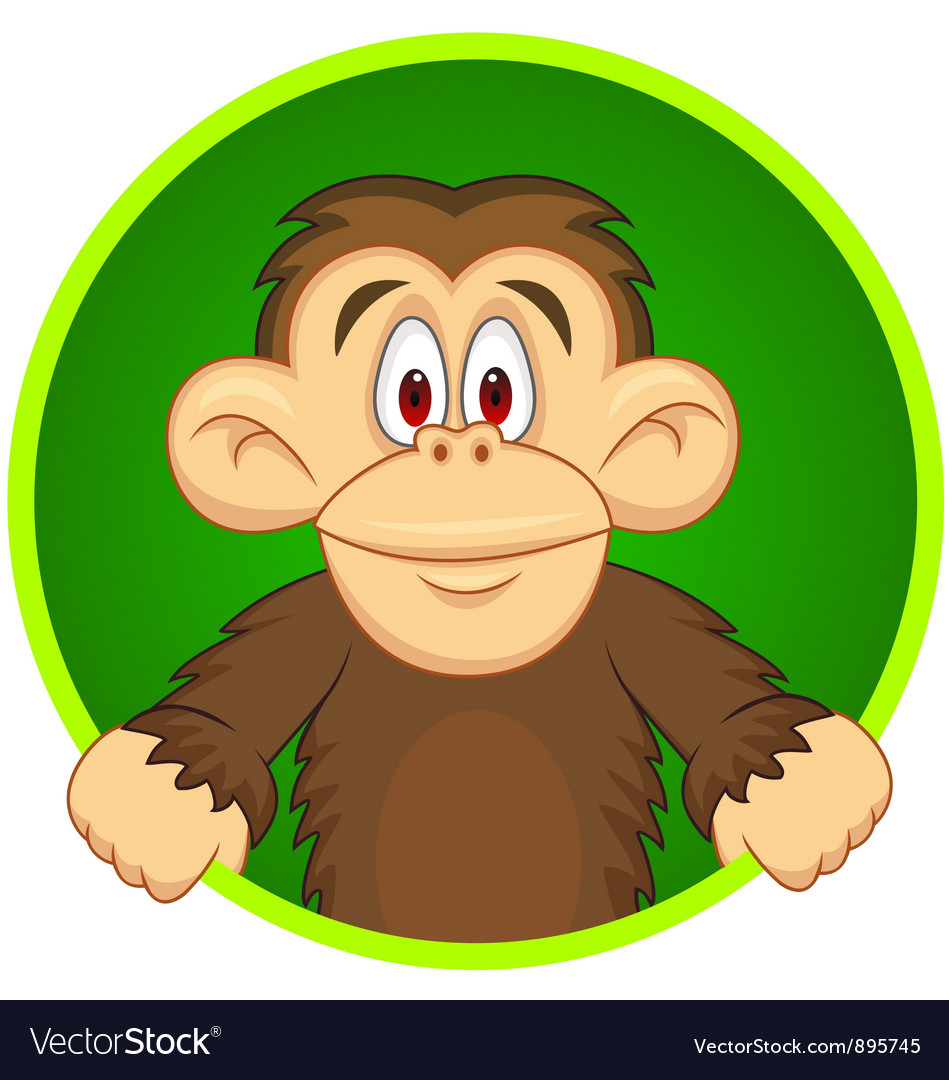 Chimpanzee carton vector | Price: 3 Credit (USD $3)