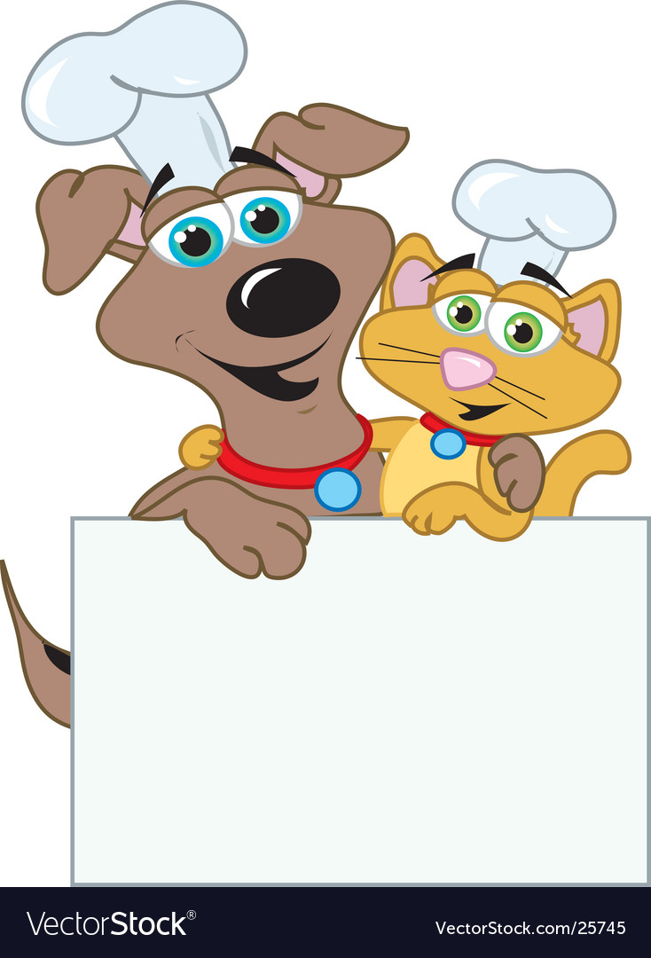 Dog and cats chefs vector | Price:  Credit (USD $)