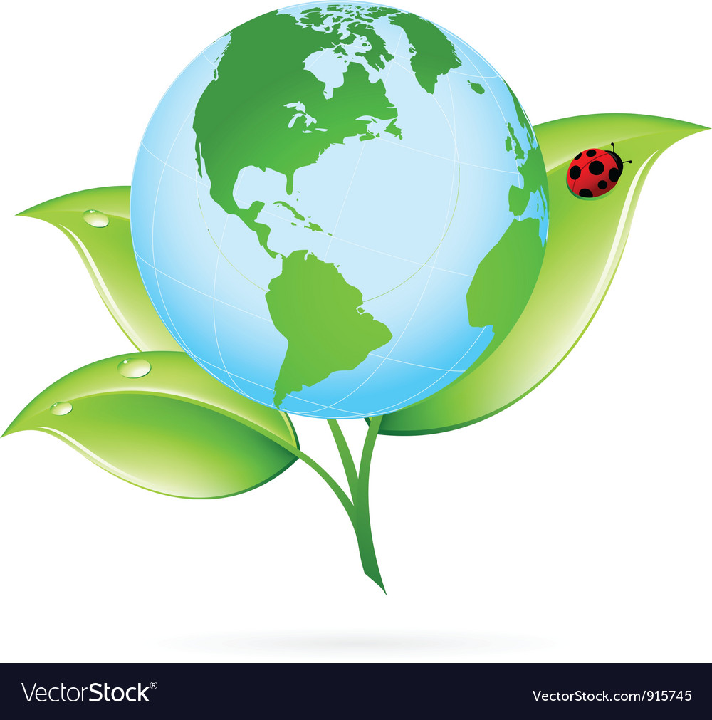 Green earth icon vector | Price: 1 Credit (USD $1)
