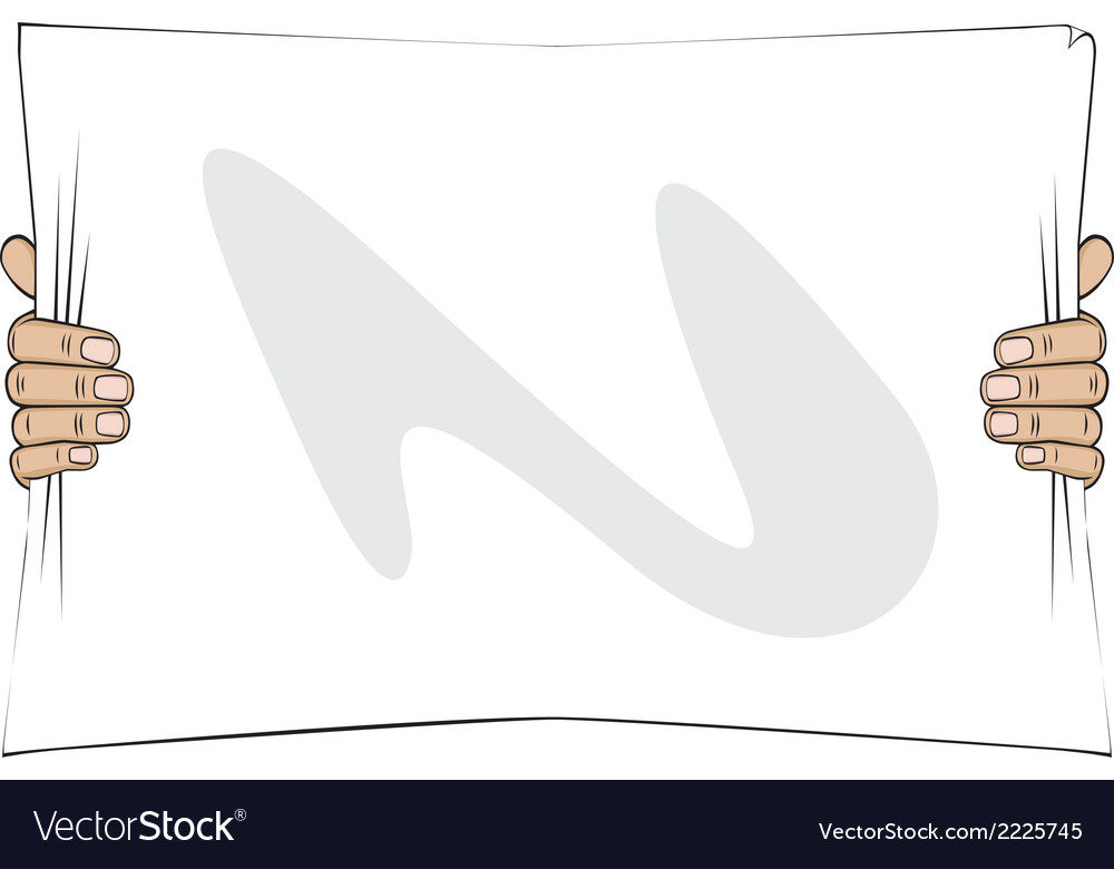 Hands holding a paper list vector   Price: 1 Credit (USD $1)