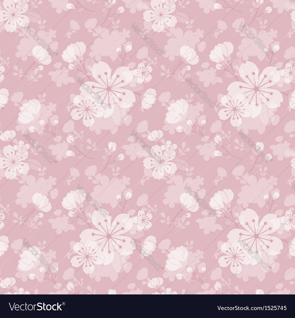 Oriental flower seamless pattern vector | Price: 1 Credit (USD $1)