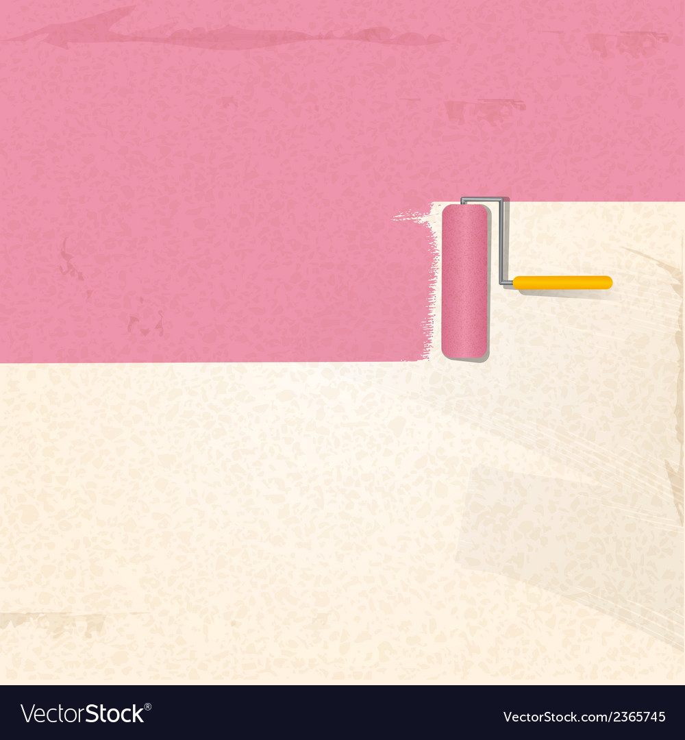 Paint and roller background pink2 vector | Price: 1 Credit (USD $1)