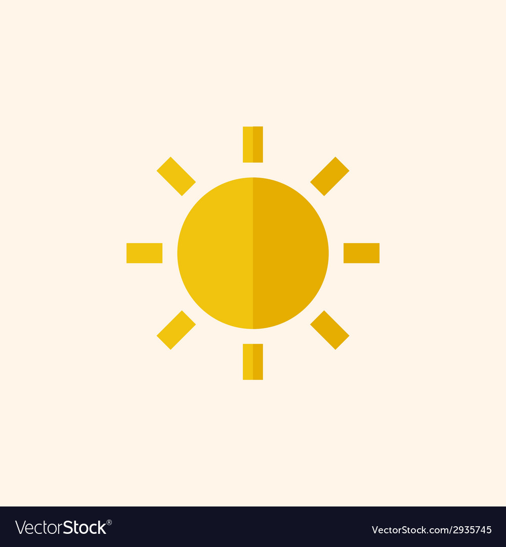 Sun travel flat icon vector | Price: 1 Credit (USD $1)