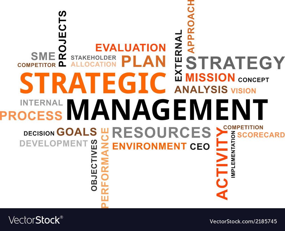 Word cloud strategic management vector | Price: 1 Credit (USD $1)