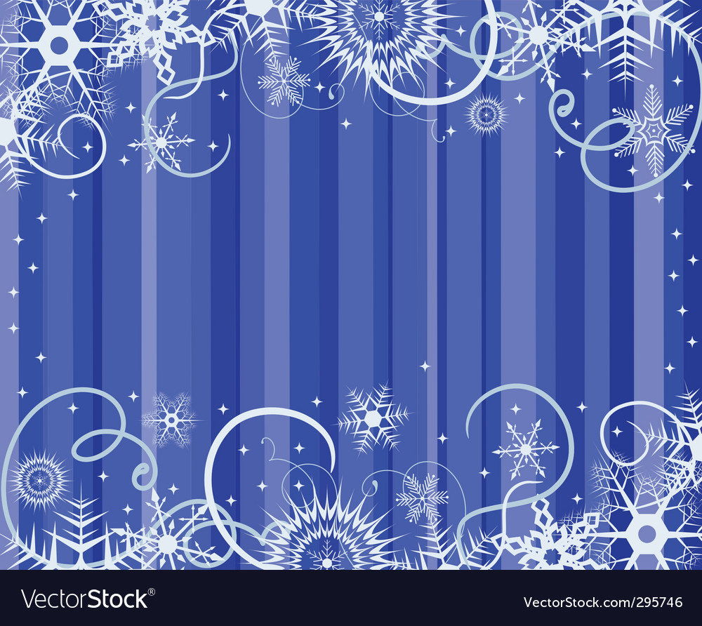 Blue background with snowflakes illustratio vector | Price: 1 Credit (USD $1)
