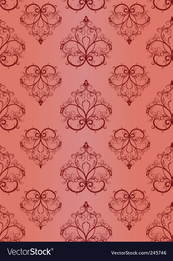 Decorative wallpaper pattern vector | Price: 1 Credit (USD $1)