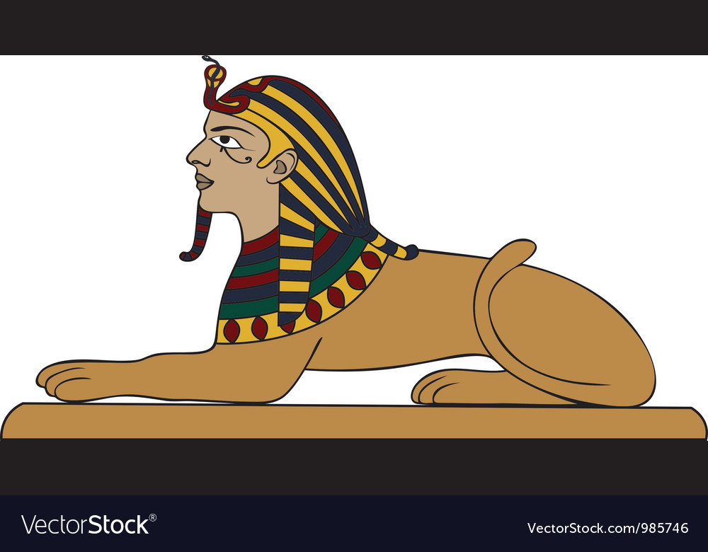Egyptian sphinx vector | Price: 1 Credit (USD $1)