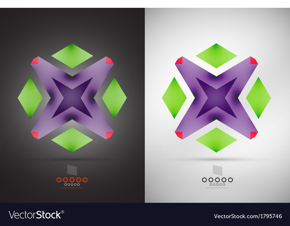 Geometric abstract shape - business symbol vector | Price: 1 Credit (USD $1)
