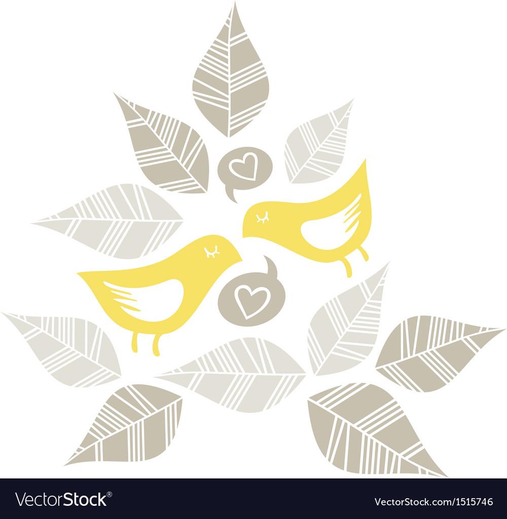 Pastel bird print patterns vector | Price: 1 Credit (USD $1)