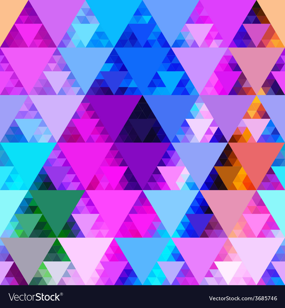 Pattern of geometric shapes trianglesgeometric vector | Price: 1 Credit (USD $1)