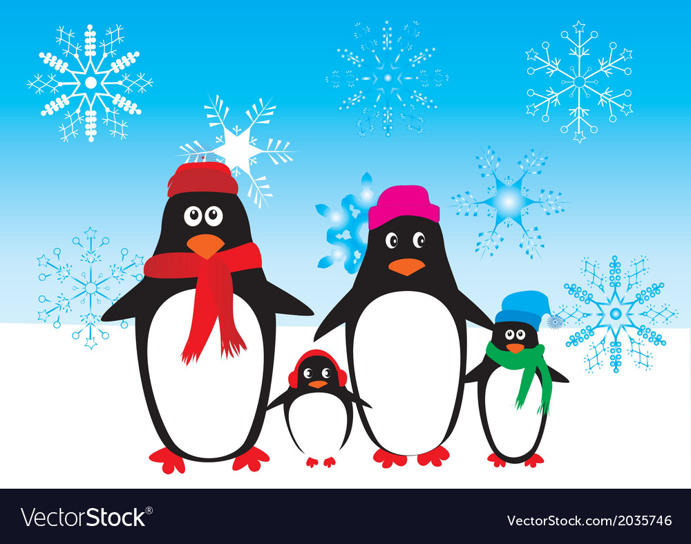 Penguins vector | Price: 1 Credit (USD $1)