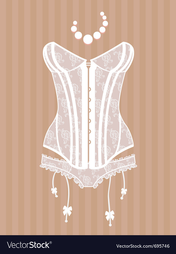 Vintage corset vector | Price: 1 Credit (USD $1)