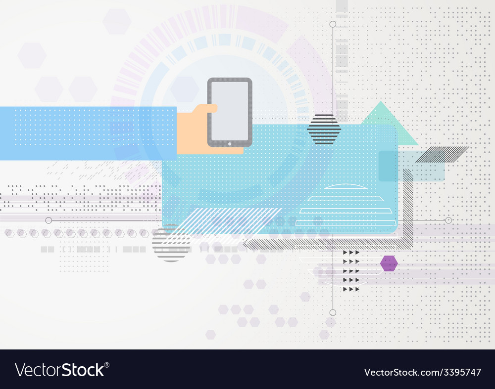 Abstract futuristic business background hand with vector | Price: 1 Credit (USD $1)