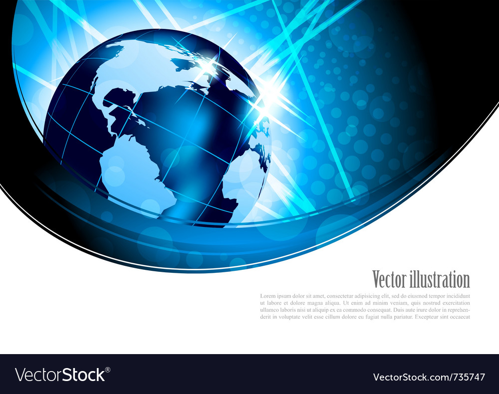 Bright background with globe vector | Price: 1 Credit (USD $1)