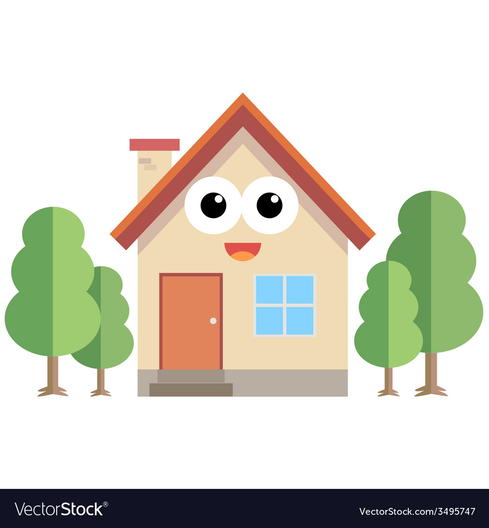 Happy home vector | Price: 1 Credit (USD $1)
