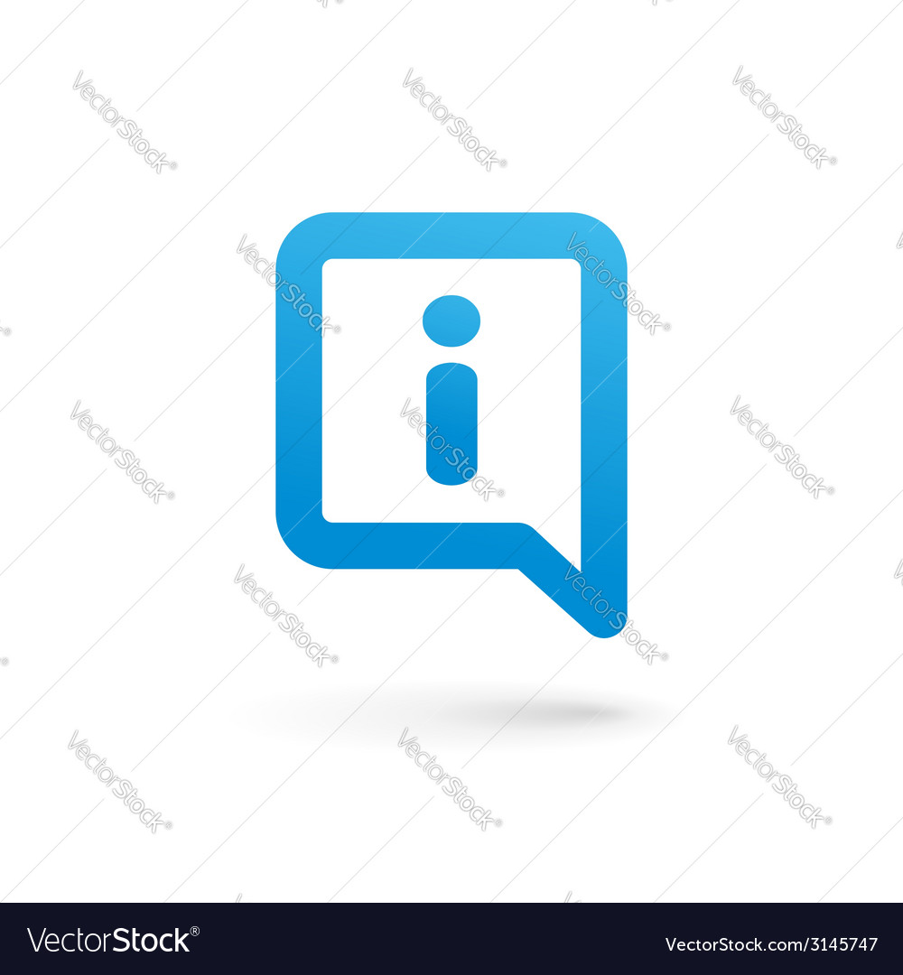 Letter i speech bubble info logo icon design vector