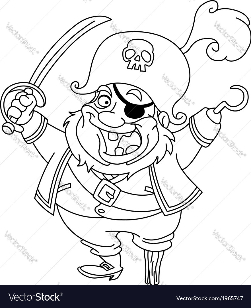 Outlined pirate vector | Price: 1 Credit (USD $1)