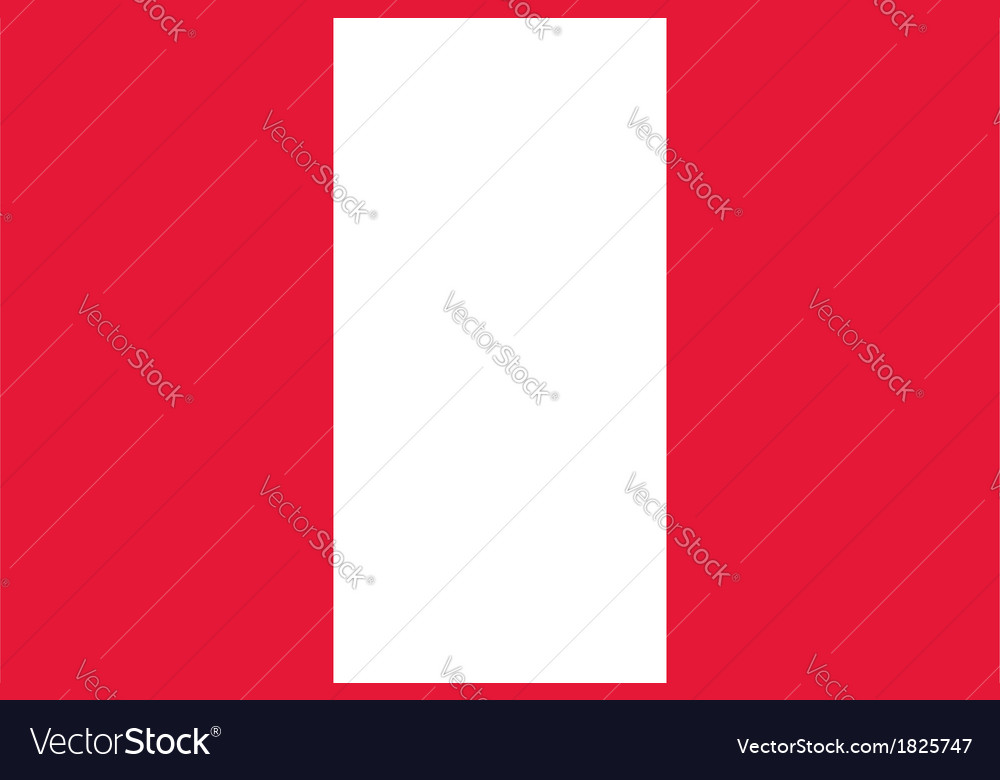 Peru flag vector | Price: 1 Credit (USD $1)