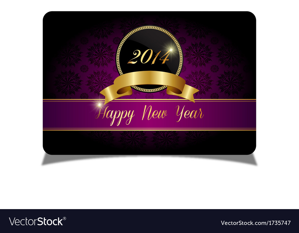 Purple new year celebrate card vector | Price: 1 Credit (USD $1)