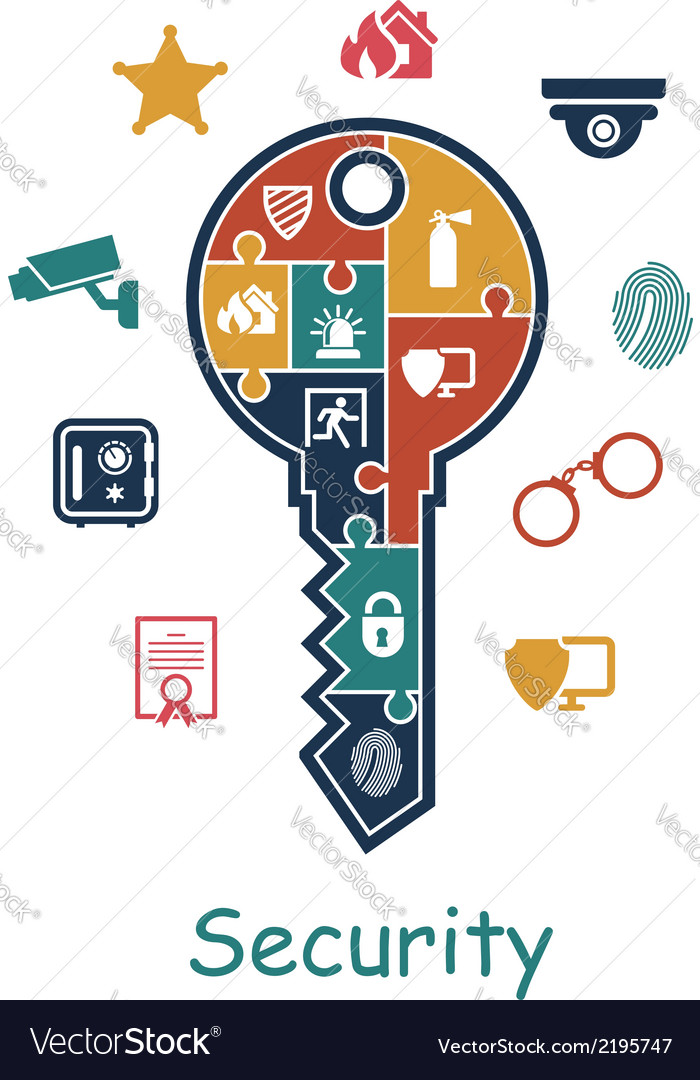 Security icon concept vector | Price: 1 Credit (USD $1)