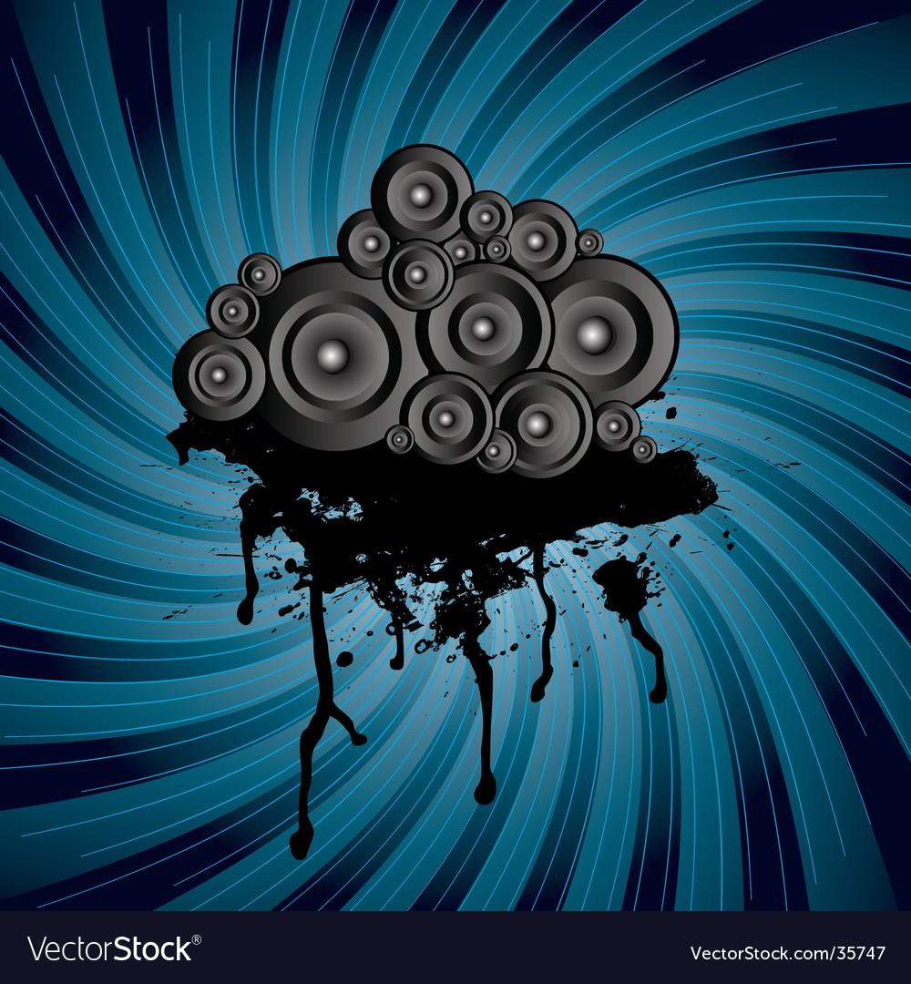 Speaker stack swirl vector | Price: 1 Credit (USD $1)
