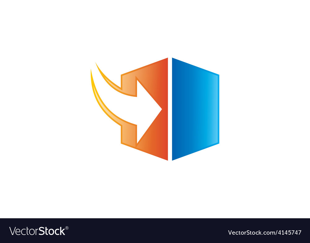 Storage arrow download cube logo vector | Price: 1 Credit (USD $1)