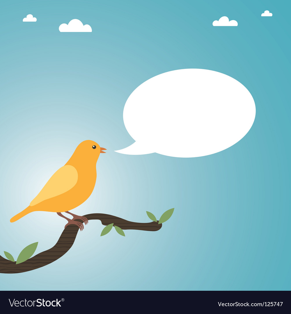 Talking canary vector | Price: 1 Credit (USD $1)