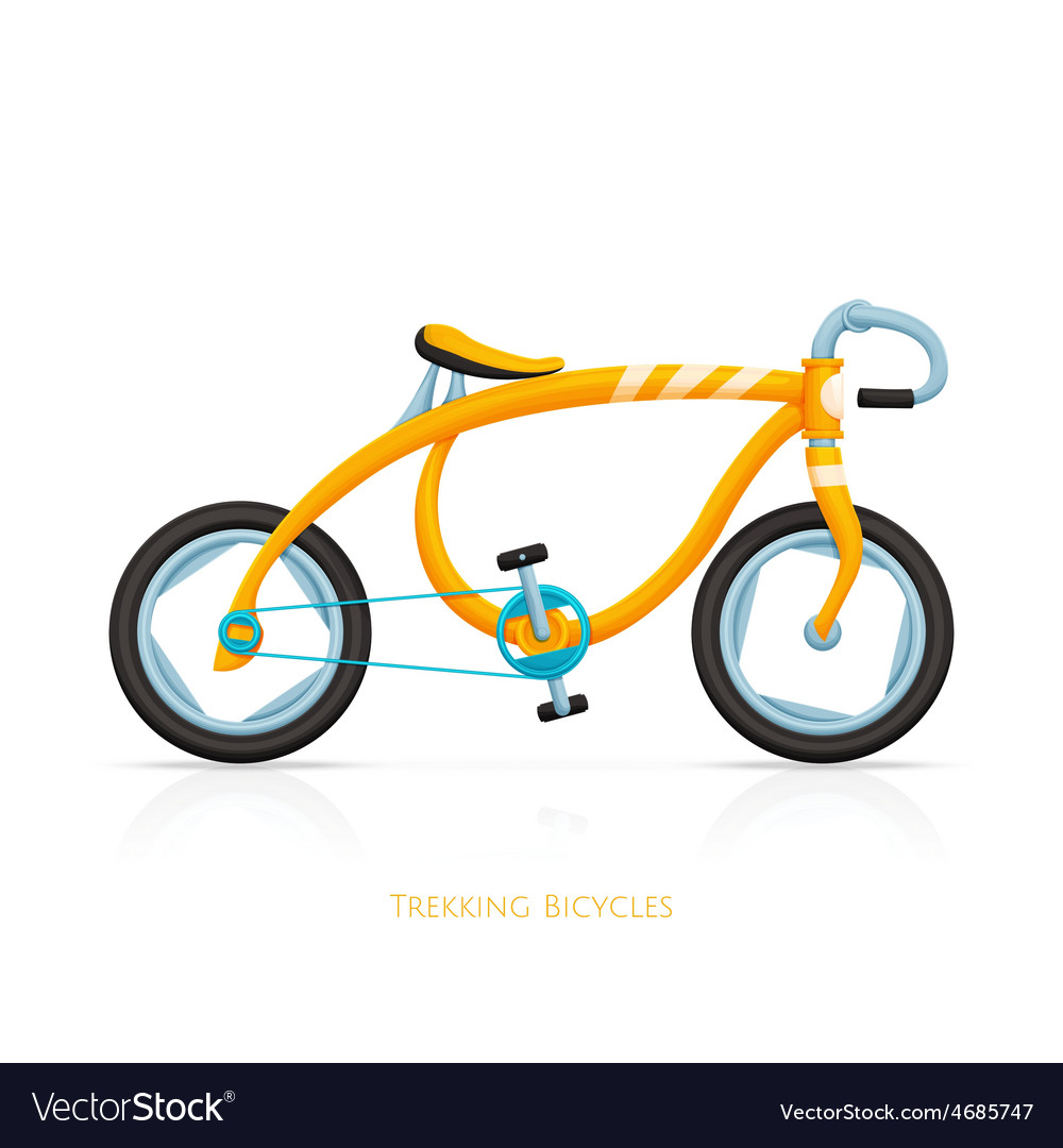 Trekking bicycles one vector | Price: 1 Credit (USD $1)