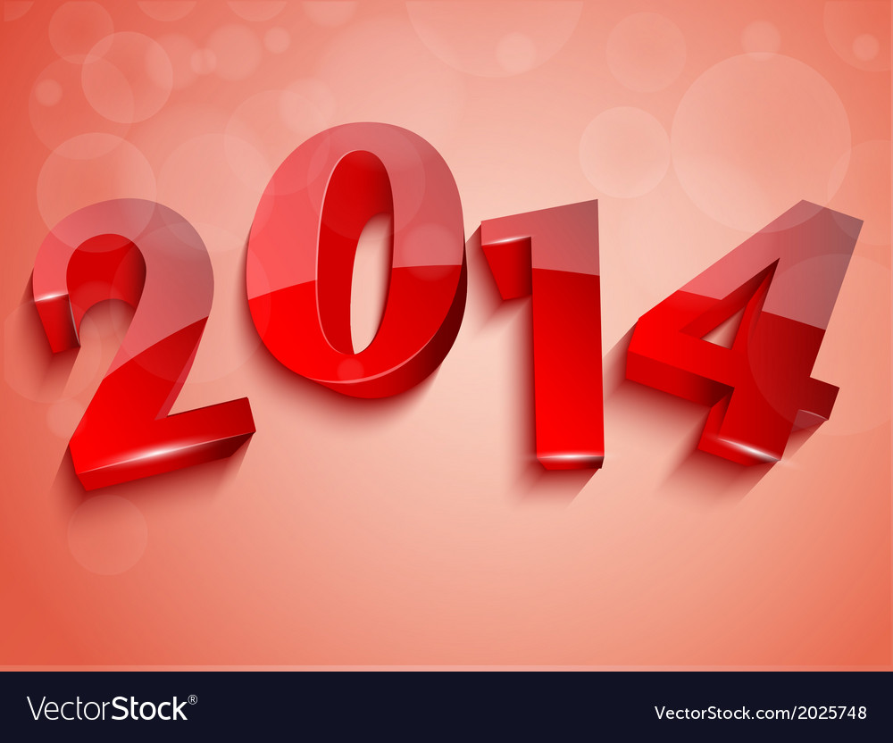 2014 new year design vector | Price: 1 Credit (USD $1)