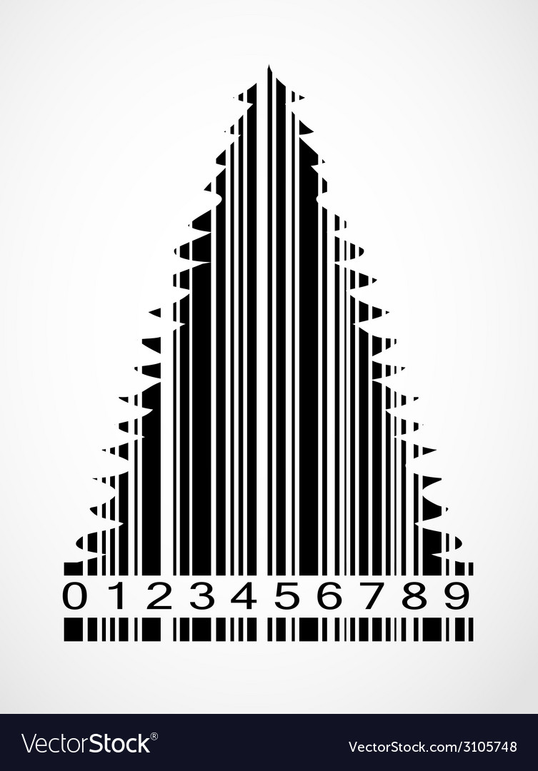 Barcode christmas tree image vector | Price: 1 Credit (USD $1)
