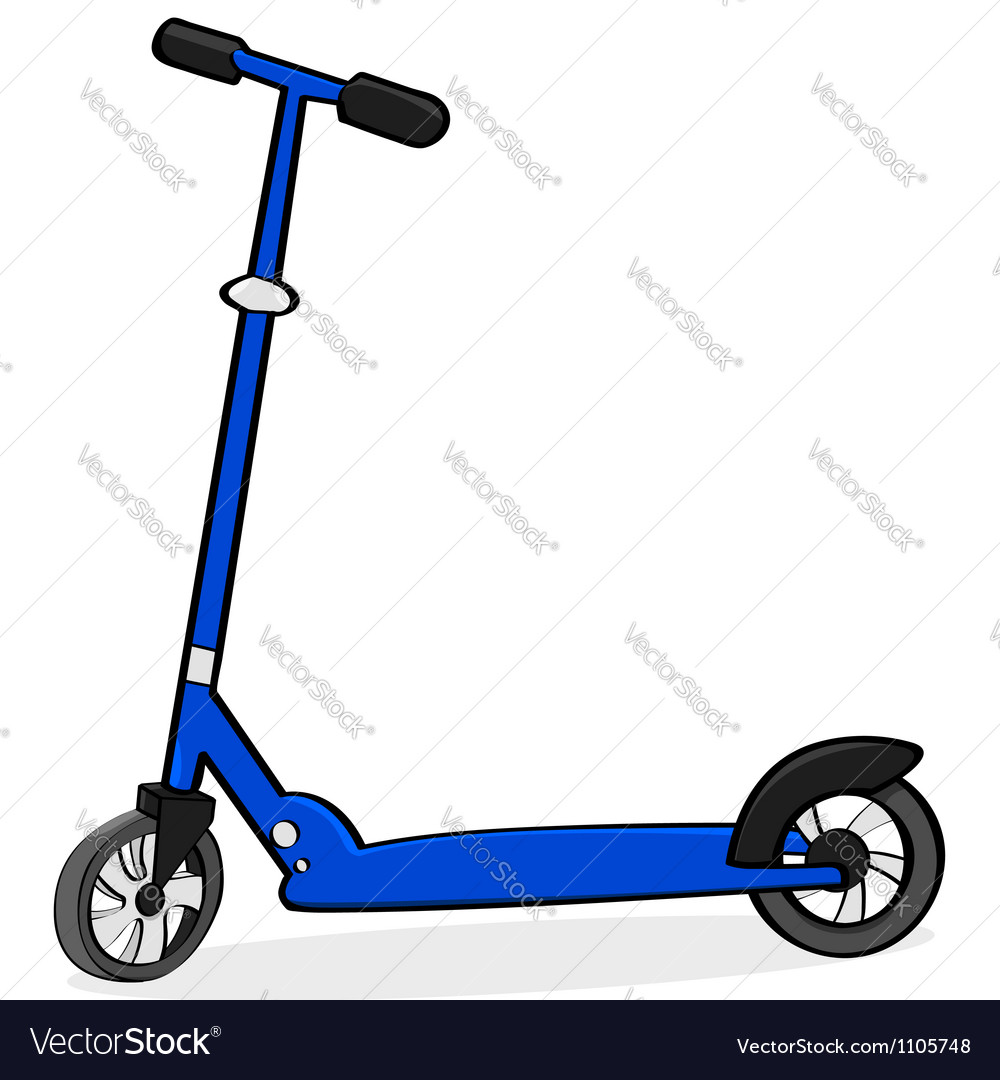 Cartoon scooter vector | Price: 1 Credit (USD $1)