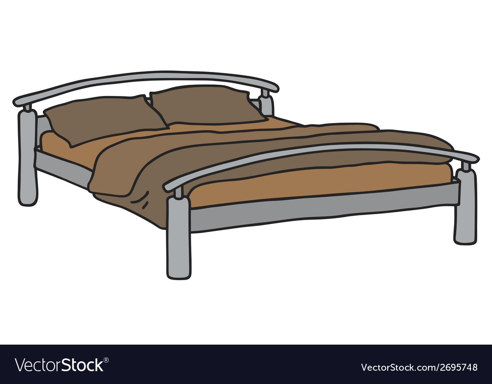 Double bed vector | Price: 1 Credit (USD $1)