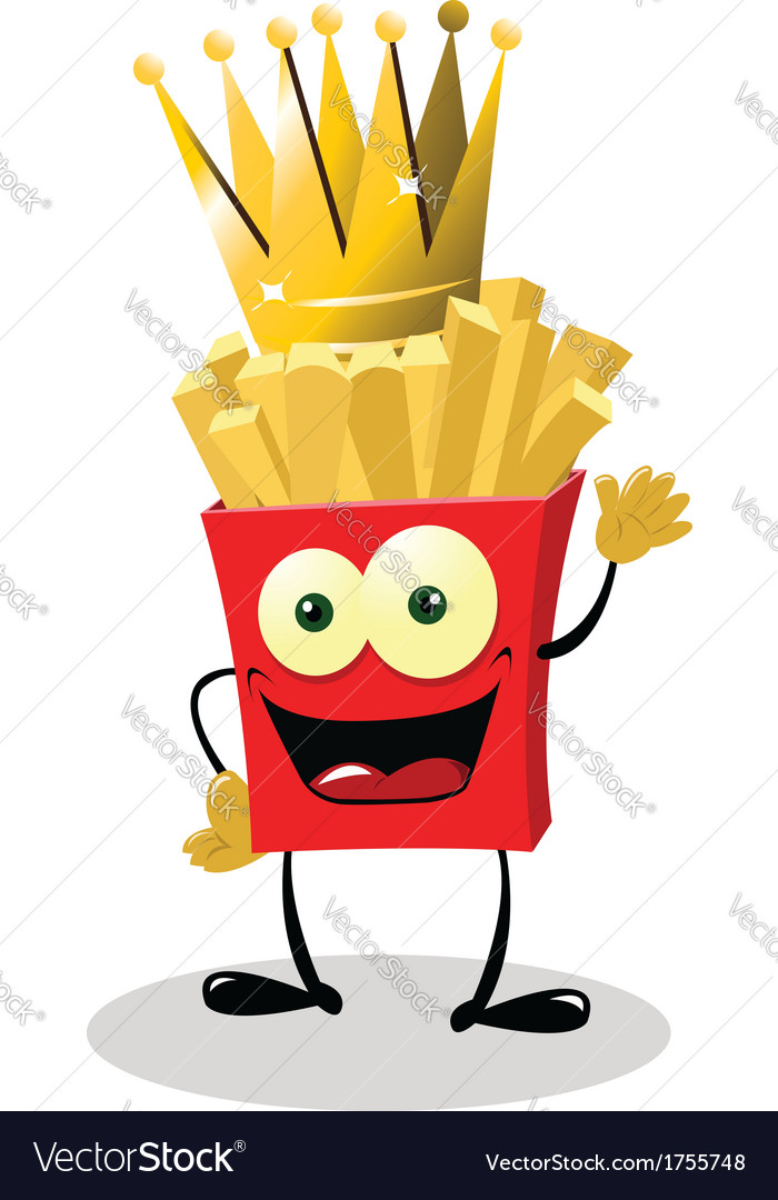 French fries king vector | Price: 1 Credit (USD $1)