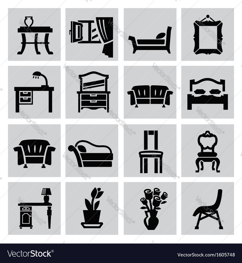 Furniture icon vector | Price: 1 Credit (USD $1)