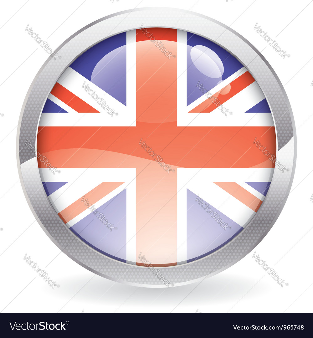Gloss button with british flag vector | Price: 1 Credit (USD $1)
