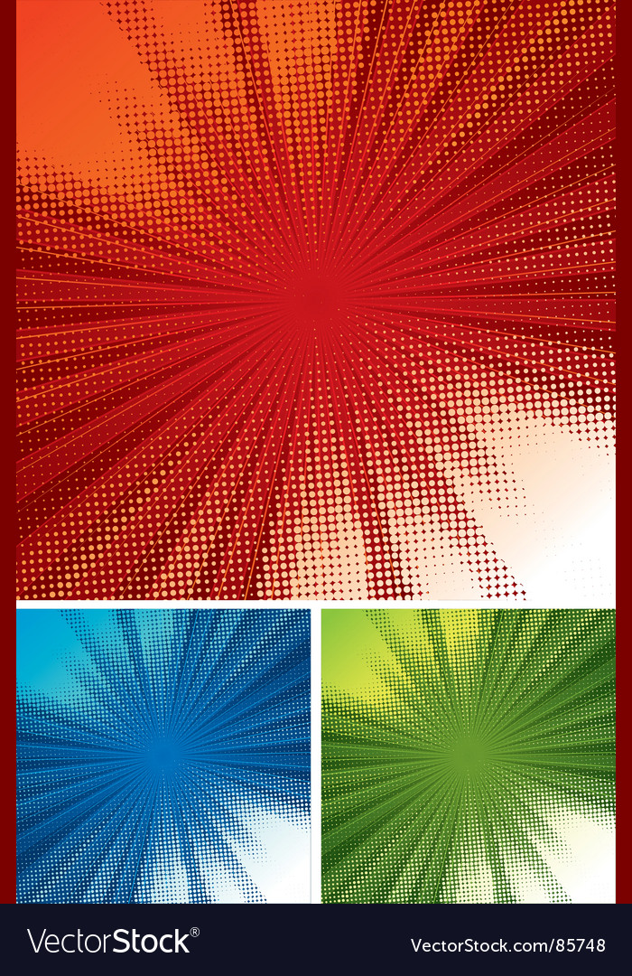 Halftone rays background vector | Price: 1 Credit (USD $1)
