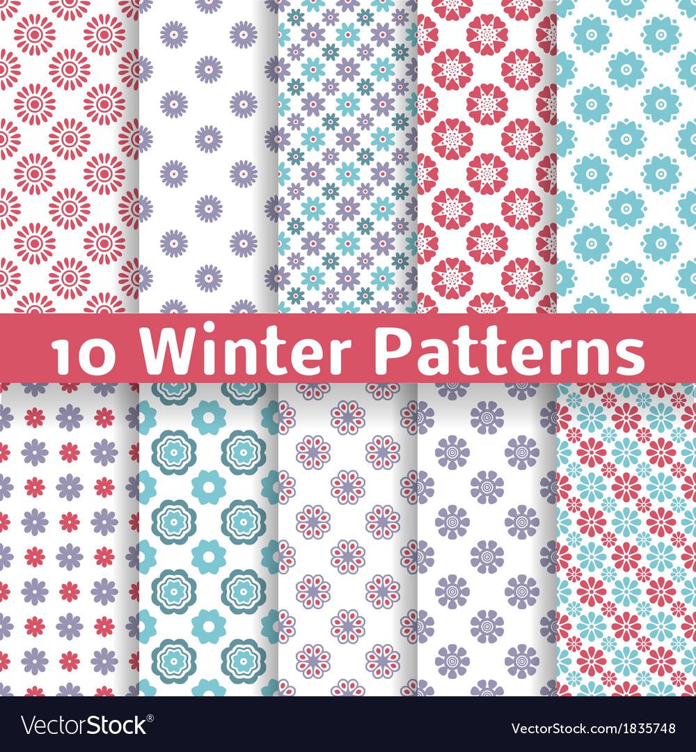 Light winter romantic patterns tiling vector | Price: 1 Credit (USD $1)