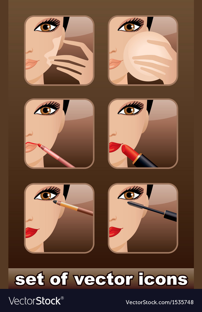 Makeup icons vector | Price: 3 Credit (USD $3)