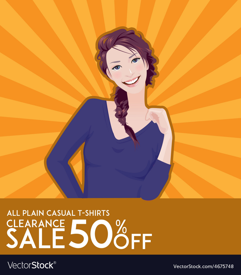 Model girl on sale poster vector | Price: 3 Credit (USD $3)