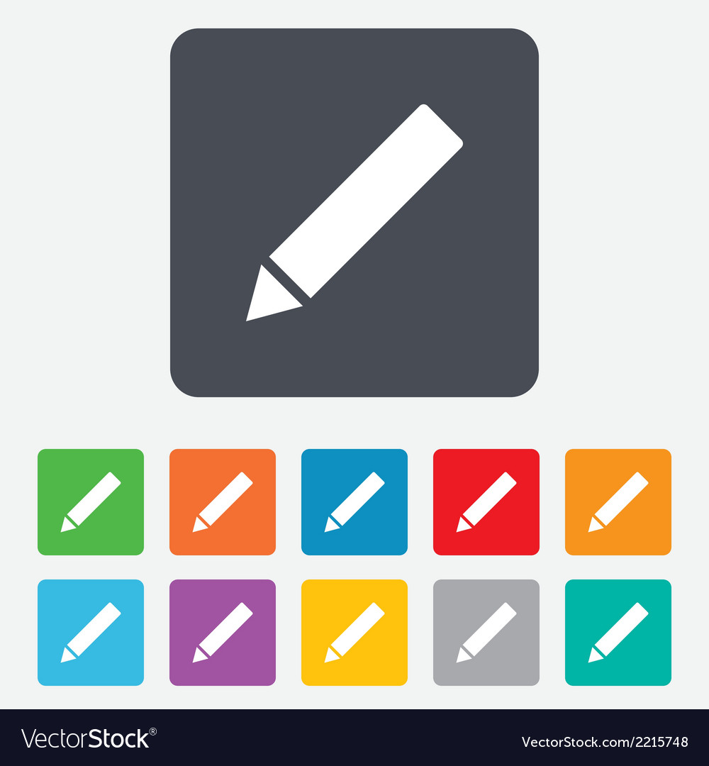 Pencil sign icon edit content button vector | Price: 1 Credit (USD $1)