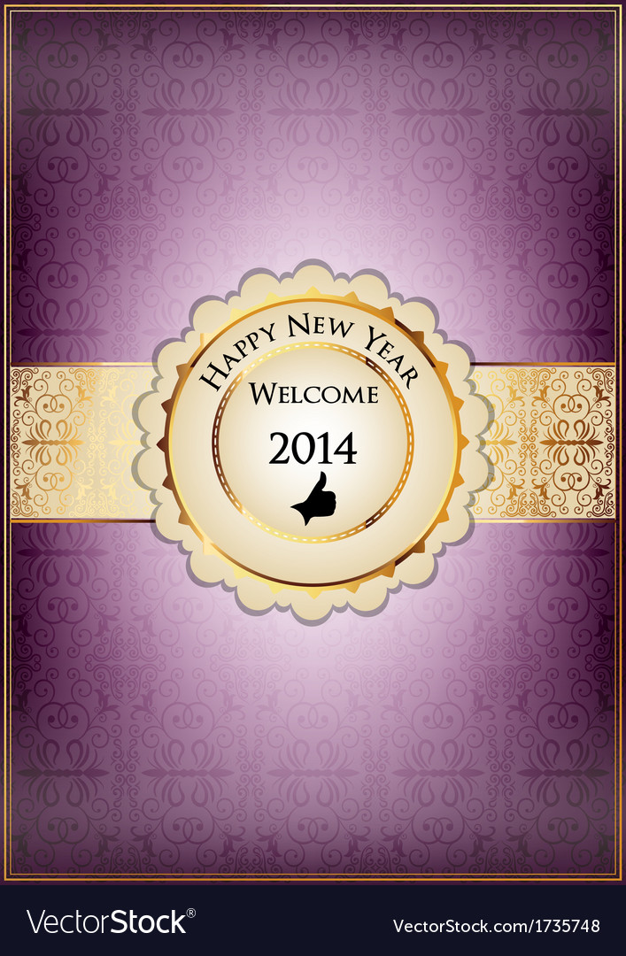 Purple abstract new year card vector   Price: 1 Credit (USD $1)