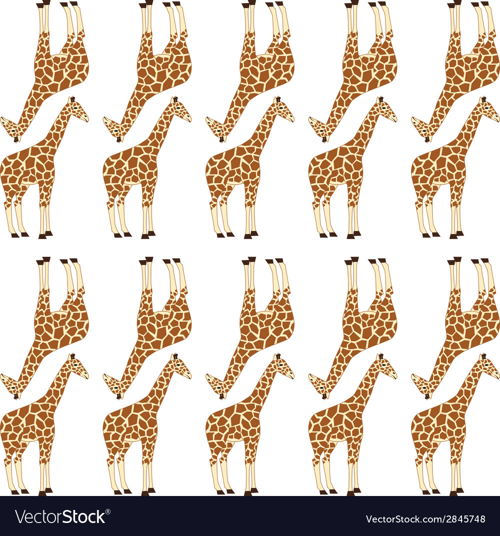 Seamless giraffe pattern vector | Price: 1 Credit (USD $1)